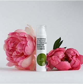 Крем конопляный для лица ночной восстанавливающий  Renewal hemp cream for face 1753 cosmetics